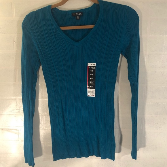 Teal Blue George Sweater Size Small